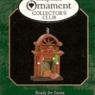 Hallmark MINIATURE Keepsake Christmas Ornament KOCC Membership 1997 Ready for Santa VGB ~*~