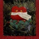 Hallmark Keepsake Ornament Our Christmas Together 1994 Red Birds Clip-On Love FB ~*~v