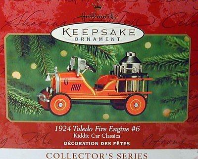Hallmark Keepsake Christmas Ornament 1924 Toledo Fire Engine 2000 Kiddie Car Classics #7 VGB ~*~