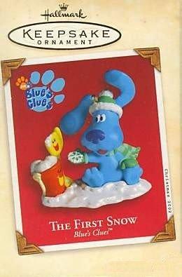 Hallmark Keepsake Christmas Ornament Blue's Clues 2002 The First Snow Puppy Dog Shovel Pail VGB ~*~