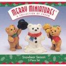 Hallmark Merry Miniatures Snowbear Season 1997 Bears & Snowman Figurines Ornament Premiere FB ~*~v