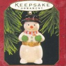 Hallmark Keepsake Christmas Ornament Porcelain Hinged Box 1997 Snowman Opens GB ~*~v