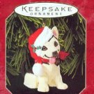 Hallmark Keepsake Christmas Ornament Puppy Love 1999 German Shepherd Dog #9 VGB ~*~