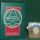 Hallmark Keepsake Christmas Ornament KOCC Membership Club Hollow 1990 Owl Tree Stump VGB ~*~v