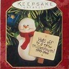 Hallmark Keepsake Christmas Ornament Millennium Snowman 1999 Snowman with Top Hat GB ~*~v
