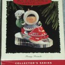 Hallmark Keepsake Christmas Ornament Frosty Friends 1995 Eskimo & Bear Snowmobile  #16 FB ~*~v