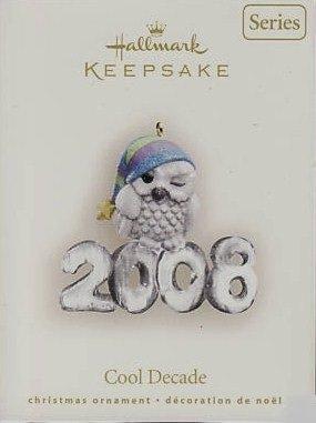 Hallmark Keepsake Christmas Ornament Cool Decade 2008 Snowy Owl #9 VGB ~*~v