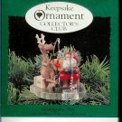 Hallmark Keepsake Christmas Ornament KOCC Membership 1995 Fishing for Fun VGB ~*~v