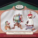 Hallmark Keepsake Christmas Ornament KOCC Membership 2001 Lettera Globus Mrs. Claus~*~v
