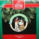 Hallmark Keepsake Christmas Ornament Heart of Christmas 1992 Peace on Earth Spain #2 GB ~*~v