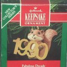 Hallmark Keepsake Christmas Ornament Fabulous Decade 1990 Squirrel #1 GB ~*~v