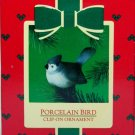 Hallmark Keepsake Christmas Ornament 1985 Porcelain Bird Tufted Titmouse GB ~*~v