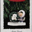 Hallmark Keepsake Christmas Ornament Frosty Friends 1994 Eskimo Bear in Hoop  #15 FB ~*~v