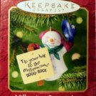 Hallmark Keepsake Christmas Ornament Millennium Snowma'am 2000 Snowman Snowwoman lady GB ~*~v