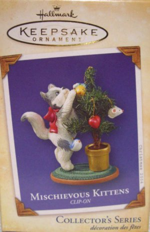 Hallmark Keepsake Christmas Ornament Mischievous Kittens 2004 Cat Cats #6 Xmas Tree FB ~*~v