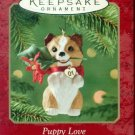 Hallmark Keepsake Christmas Ornament Puppy Love 2001 Sheltie #11 GB ~*~v