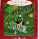 Hallmark Keepsake Christmas Ornament Cool Decade 2001 Penguin & Fish #2 GB ~*~v