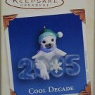 Hallmark Keepsake Christmas Ornament Cool Decade 2005 Baby Seal Elf Hat #6 GB ~*~v