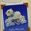 Hallmark Keepsake Christmas Ornament Cool Decade 2002 Polar Bear With Scarf #3 GB ~*~v