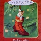 Hallmark Keepsake Christmas Ornament Fashion Afoot 2000 Porcelain Shoe Mouse Hinged Box #1 VGB ~*~v