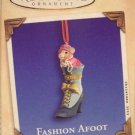 Hallmark Keepsake Christmas Ornament Fashion Afoot 2002 Porcelain Shoe Mouse Hinged Box #3 VGB ~*~v