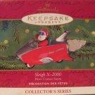 Hallmark Keepsake Christmas Ornament Here Comes Santa 2000 Sleigh X-2000 Rocket Car #22 GB ~*~v