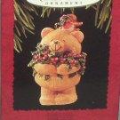 Hallmark Keepsake Christmas Ornament 1995 FOREVER FRIENDS Bear & Bird GB ~*~v