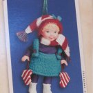 Hallmark Keepsake Christmas Ornament Mistletoe Miss 2002 Porcelain Doll Jointed Arms/Legs VGB ~*~v