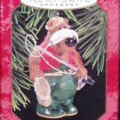 Hallmark Keepsake Christmas Ornament 1997 Catch of the Day Fisherman Bear Fishing GB ~*~v