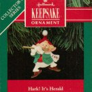 Hallmark Keepsake Christmas Ornament Hark! It's Herald 1991 Elf & Golden Fife #3 GB ~*~v