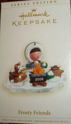 Hallmark Keepsake Christmas Ornament Frosty Friends 2006 Eskimo Husky Campfire #27 GB ~*~v