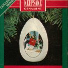 Hallmark Keepsake Christmas Ornament 1991 Winter Surprise Penguins Singing Carols #3 FB ~*~