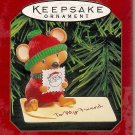 Hallmark Keepsake Christmas Ornament 1999 Handled With Care Mouse Friend Sending Card GB ~*~v