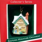 Hallmark MINIATURE Keepsake Christmas Ornament 1989 English Village Sweet Shop #2 GB ~*~