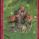 Hallmark Keepsake Christmas Ornament 2000 Majestic Wilderness Foxes in the Forest #4 GB ~*~v