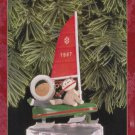 Hallmark Keepsake Christmas Ornament Frosty Friends 1997 Eskimo & Husky Ice Sailing  #18 GB ~*~v