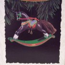 Hallmark Keepsake Christmas Ornament Rocking Horse 1994 Dark Brown #14 FB ~*~