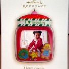 Hallmark Keepsake Christmas Ornament 2008 I Love Grandma Cookie Jar Photo GB ~*~v