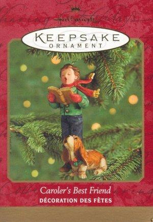 Hallmark Keepsake Christmas Ornament 2000 Caroler's Best Friend Basset Hound GB ~*~
