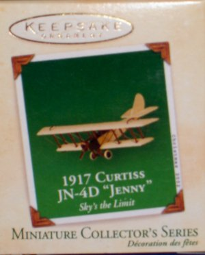 Hallmark MINIATURE Keepsake Christmas Ornament 2002 Curtiss JN-4D 1917 Jenny #2 GB ~*~