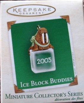 Hallmark MINIATURE Keepsake Christmas Ornament Ice Block Buddies 2003 Walrus VGB ~*~