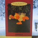 Hallmark Keepsake Christmas Ornament Garfield 1995 Cat Angel with Trumpet GB ~*~