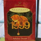 Hallmark Keepsake Christmas Ornament Fabulous Decade 1999 Cat #10 Cats Kitten GB ~*~