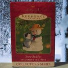 Hallmark Keepsake Christmas Ornament Snow Buddies 2001 Snowman raccoon #4 GB ~*~v