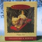 Hallmark Keepsake Christmas Ornament Puppy Love 1993 Golden Retriever Pup Dog #3 GB ~*~v