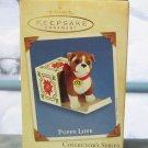 Hallmark Keepsake Christmas Ornament Puppy Love 2003 Boxer Dog #13 GB ~*~v