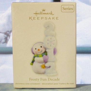 Hallmark Keepsake Christmas Ornament 2012 Frosty Fun Decade #3 Snowman GB~*~v