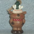 Eddie Walker Christmas Ornament / Figure Roly Poly Standing Reindeer Round Snowball Shape NB ~*~