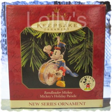 Hallmark Keepsake Christmas Ornament Mickey's Holiday Parade 1997 #1 Bandleader Mickey GB ~*~v