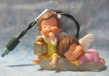 Hallmark Keepsake Christmas Ornament Mary's Angels 2000 SPECIAL Lighted NO Box ~*~v